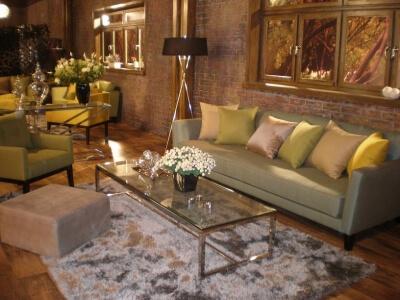 ספה לסלון בצבע ירוק